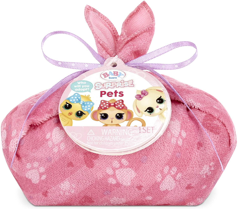 Baby Born Surprise Pets Series 3 with 8+ Surprises, Color Change and Bathtub