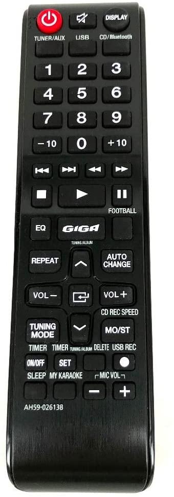 Calvas NEW Remote Control FOR SAMSUNG AH59-02613B AH59 02613B FOR MX-H630 Original TV/CD Fernbedienung