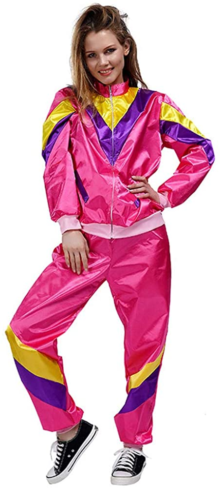 MIAIULIA Women's 80's Height of Fashion Shell Suit Costume