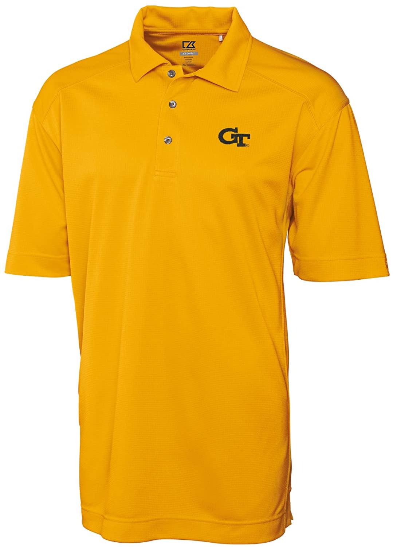 Cutter & Buck NCAA Georgia Tech Men's Genre Polo Shirt, X-Large, College Gold