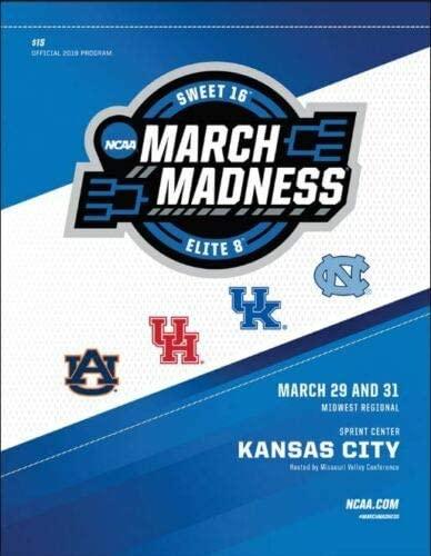 Basketball 2019 Kansas City MID WEST Regional Program Tar Heels Auburn Kentucky UH Mens Final Four