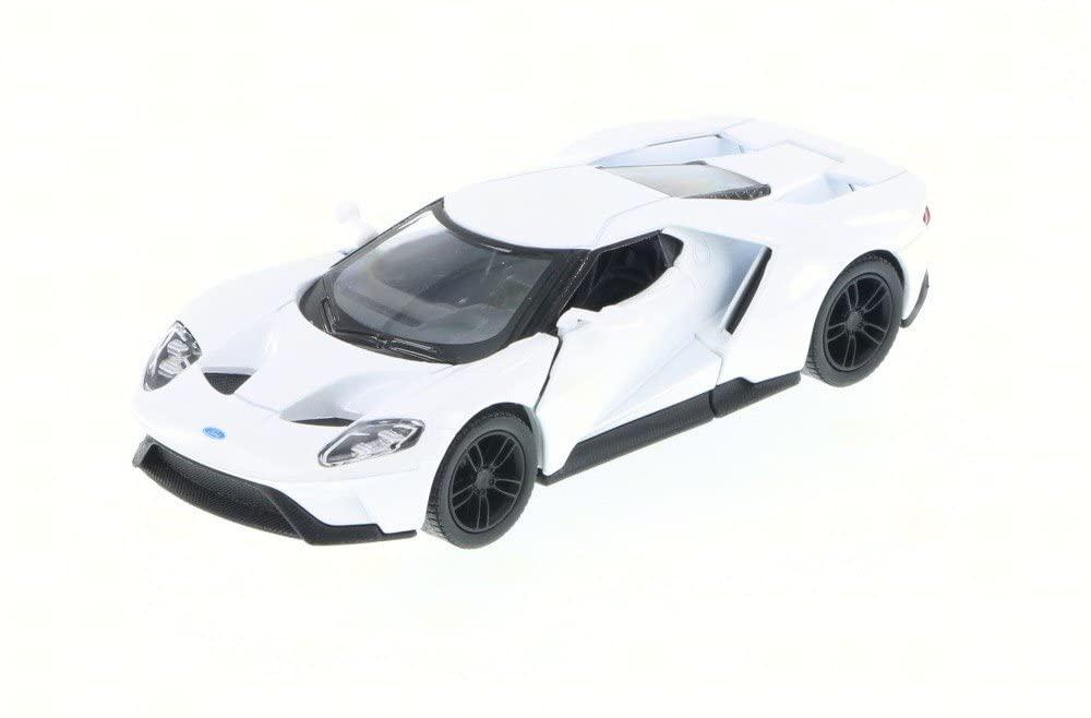 KiNSMART 2017 Ford GT, White 5391D - 1/38 Scale Diecast Model Toy Car