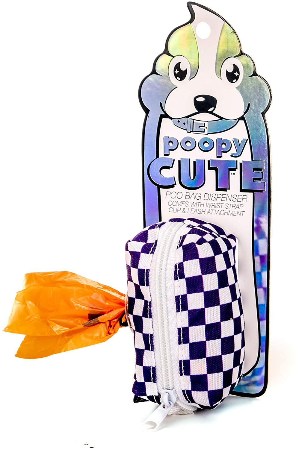 Fydelity poopyCUTE- Doggy Poop Waste Bag Dispenser for Fashionably Cute Owner and Dog Breed,Puppy Supply|Women Luxury Fashion Style, On Leash Holder Clip for Bag/Travel/Walking/Treat/Key: