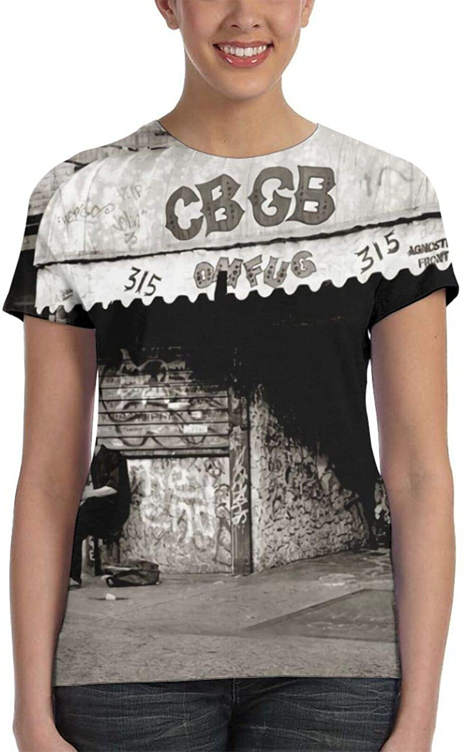 Girls CBGB New York Rock Club Short Sleeve Full T-Shirt