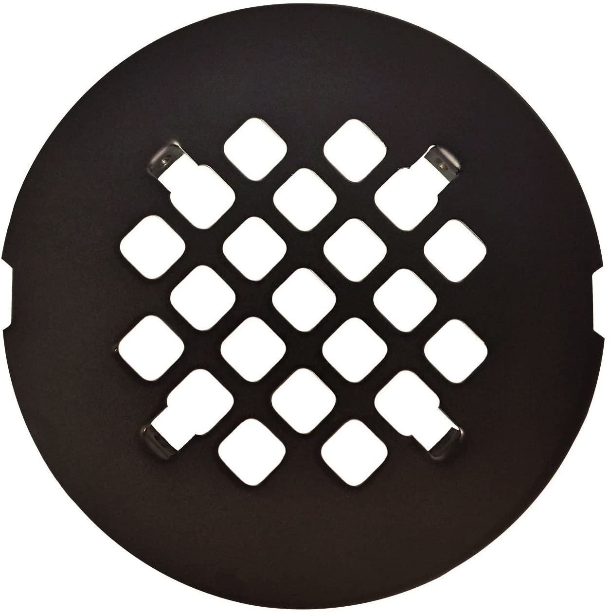 Oil Rubbed Bronze Round SNAP-IN Shower Drain Grate 4-1/4