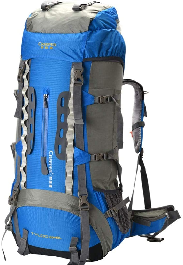 LYTYM Multifunctional Men and Women Outdoor Travel Hiking Backpack Mountaineering Backpack Mountain Climbing Backpack (Color : Blue)
