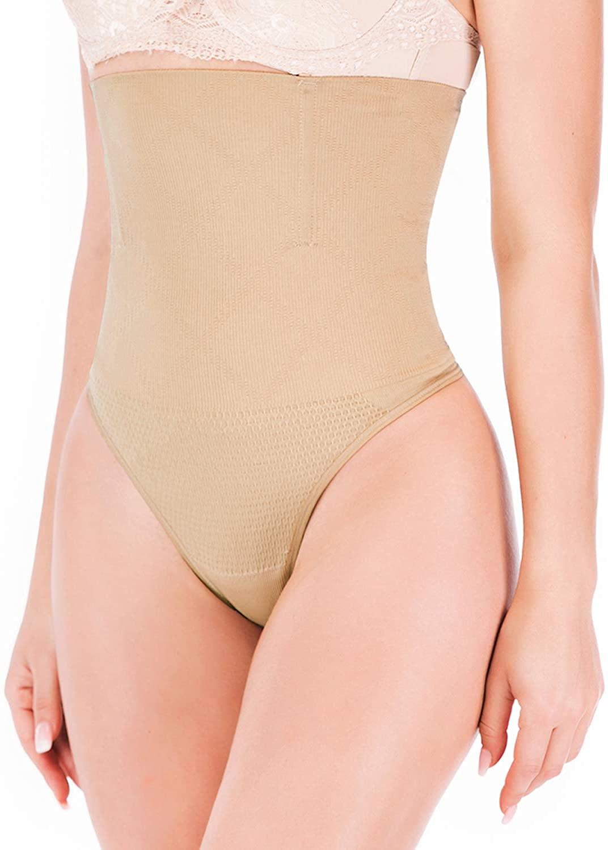 Lecigrl Women's Sexy Thong Girdle Tummy Slimmer Panty Shapewear Butt Lifter Waist Cincher Trainer