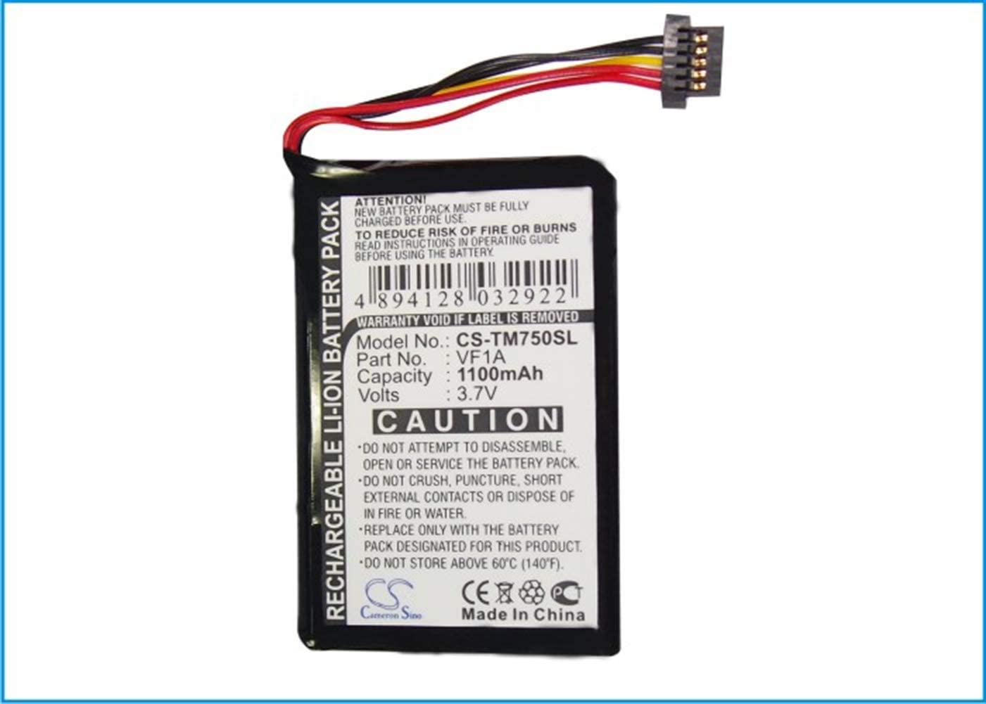 Cameron Sino 3.7V/1100mA AHL03711012,HM9440232488,VF1A Replacement Battery for Tomtom 4CP0.002.06,Go 740 Live,Go 740TM,Go 750,Go 750 Live Battery