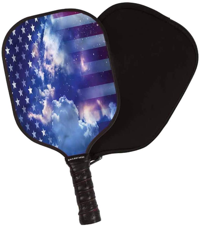 LCGGDB Nautical Pickleball Paddle Set,Seashells Bubble Ocean Lightweight Pickleball Racket,Lightweight 8OZ with Cover, Ideal for Beginners