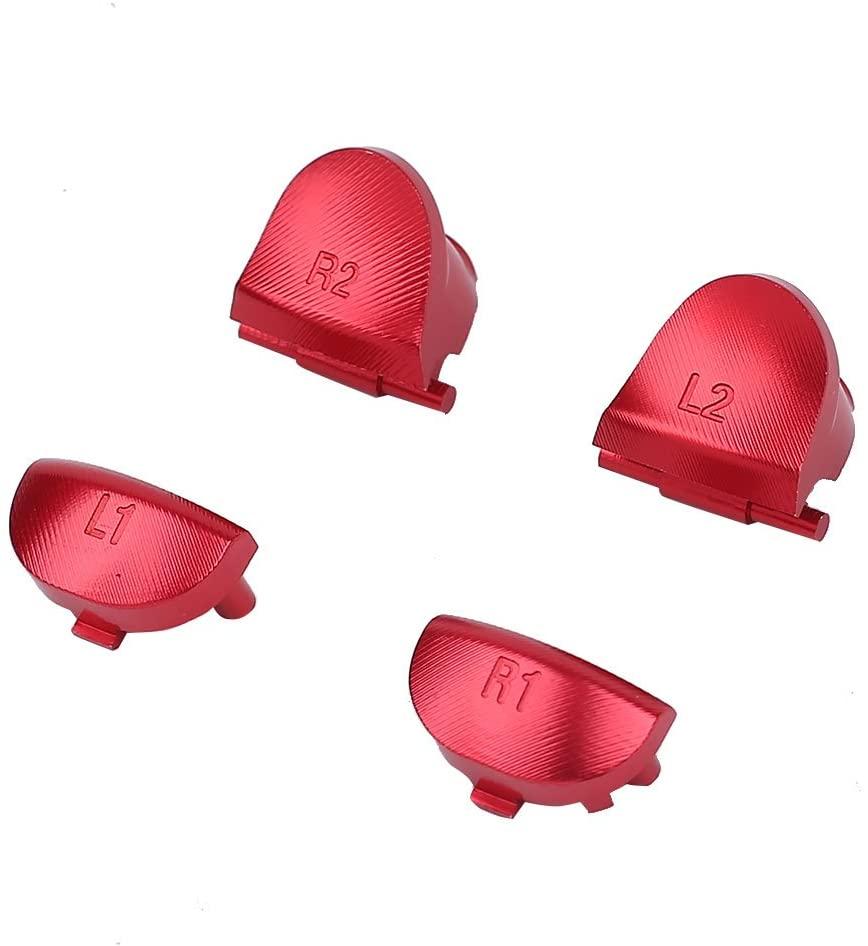 Jiayuane 4Pcs R1-L1 R2-L2 Trigger Buttons Set Parts For PS4 Playstation 4 Game Controller