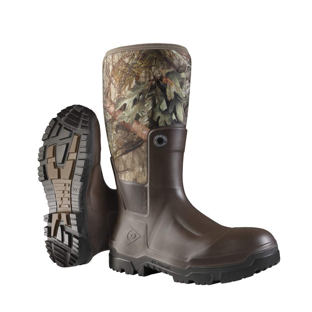 Dunlop Protective Footwear OD60B9311 Snugboot Wildlander, 100% Waterproof, Scent-Free Breathable Antimicrobial Lining with Mossy Oak Break-Up-Country Pattern, Slip Resistant, Size 11, Dark Brown