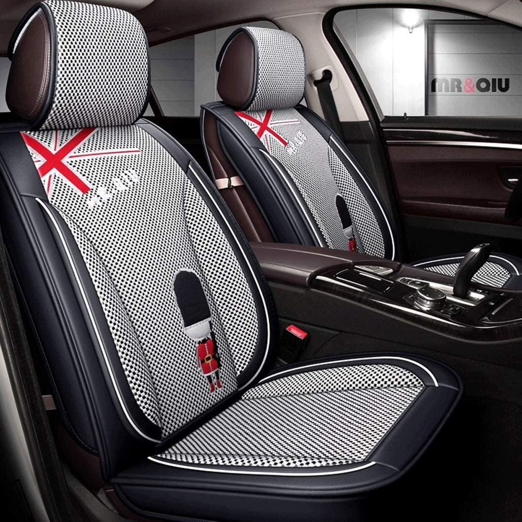 JHSDF (AX-Seat Cover) car seat Cover, Front and Rear Textile Comfort pad 5 seat Full Universal Compatible airbag 903 (Size : Black)