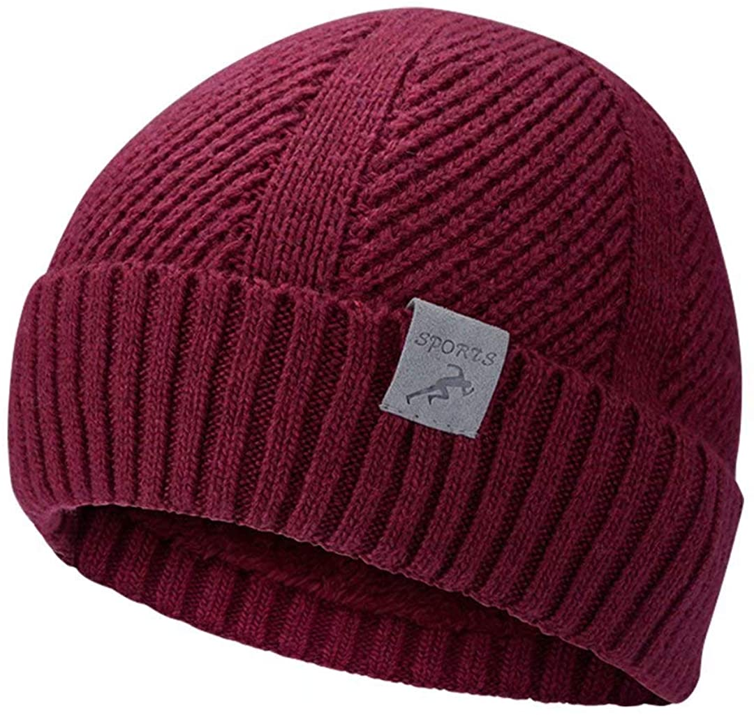 Loyakuu Winter Knit Beanie Hats for Men & Women - Warm Wool Thick Slouchy Skull Cap for Kids