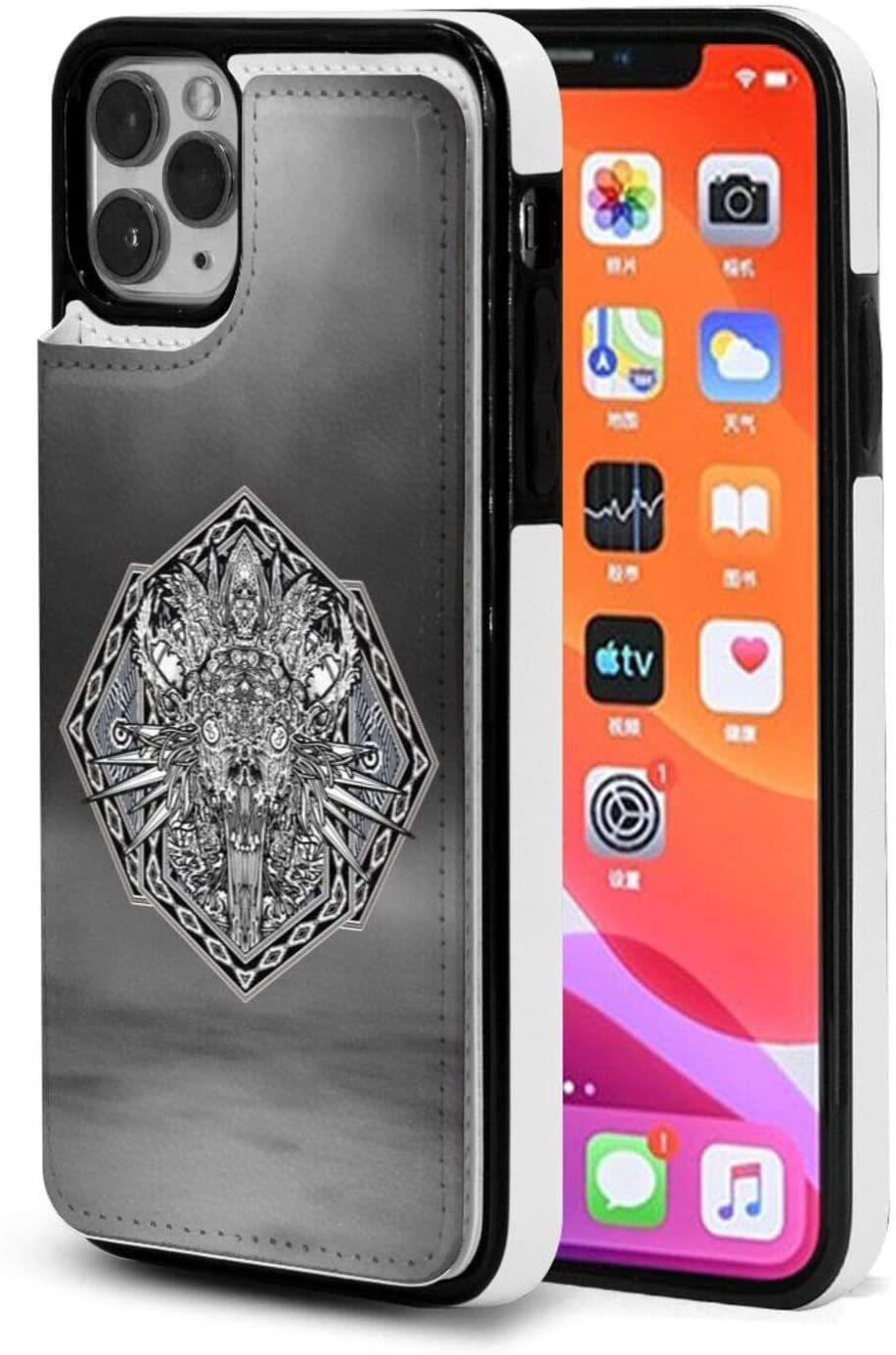 Iphone 11 Pro Max Flip Case Personalized Design Customization Totem Guardian With Credit Card Slot Holder & Double Magnetic Clasp