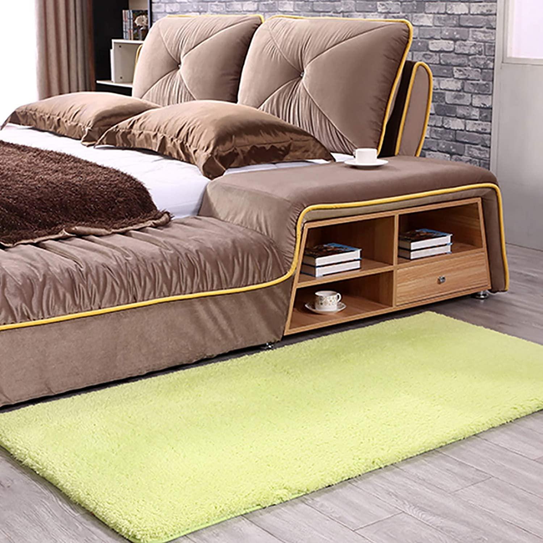 ZZFF Super Soft Rectangle Shag Area Rug,Luxury Fluffy Bedroom Bedside Rug,Solid Color Plush Floor Mat,Kids Play Mat for Bedroom Nursery Living Room Sofa Decor