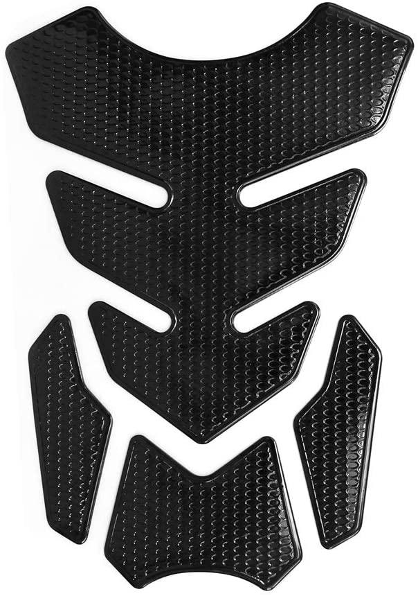 3D Motorcycle Tank Pad Protector Gas Tank Protector Sticker Decal Gas Oil Fuel Tank Pad Protector Black for Suzuki Kawasaki Honda Yamaha Ducati