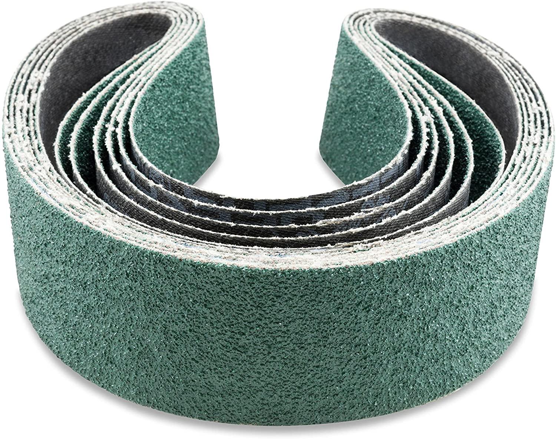 Red Label Abrasives 2 X 36 Inch 36 Grit Metal Grinding Zirconia Sanding Belts, 6 Pack