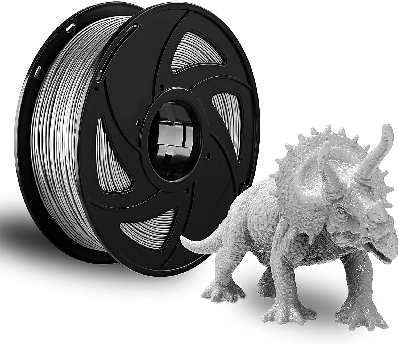 XVICO 3D Filament Gray PETG 1.75mm Filament 3D Printer Consumables,1kg Spool (2.2lbs), Dimensional Accuracy +/- 0.05 mm, Fit Most FDM Printers, Pack of 1 Grey