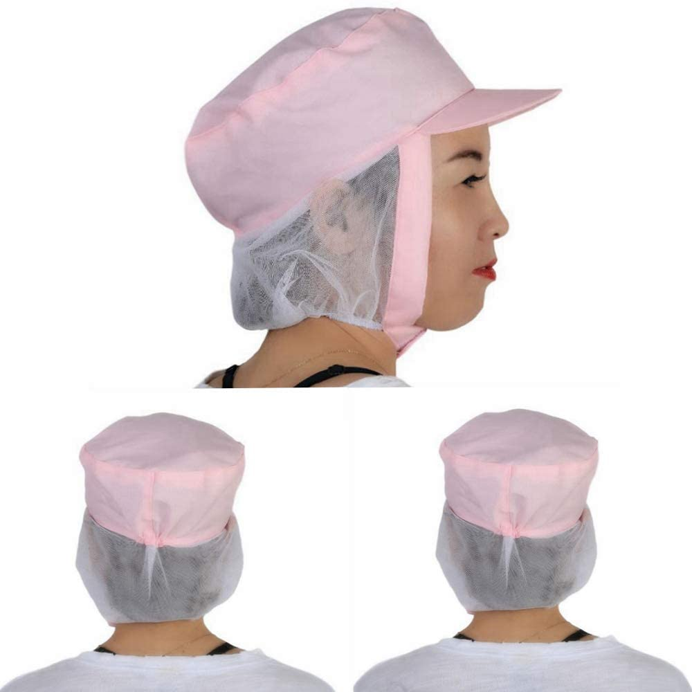 3 Pack Cap Dustproof to Prevent Hair Loss Women's and Men's Cap Working Hat Sun Cap Windproof Strap