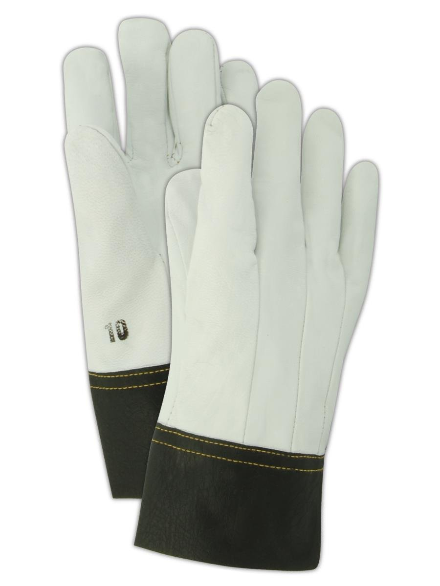 Magid Glove & Safety 1230B-10 Magid DuraMaster 1230B Clute Pattern Full Goatskin Leather Gloves, 9, Gray, 10 (Pack of 12)
