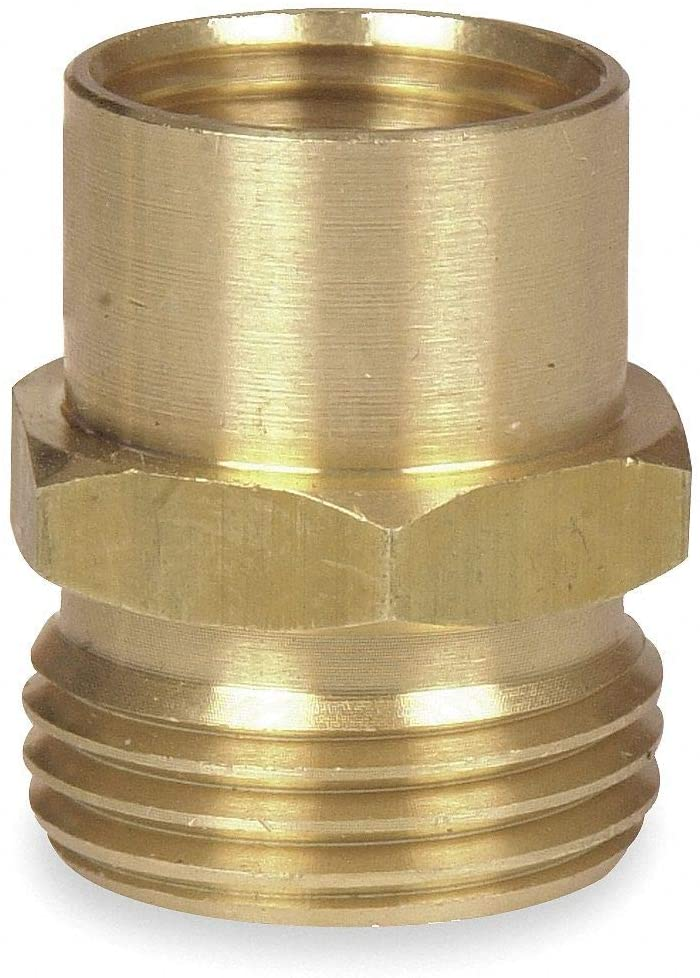 Brass Hose To Pipe Adapter, 3/4