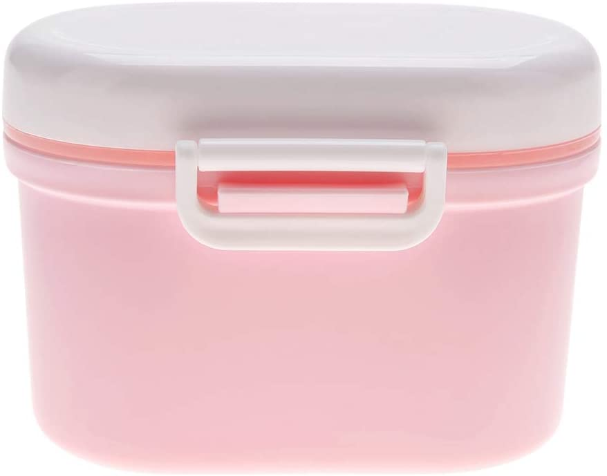 FastUU Milk Powder Dispenser Baby Feeding Formula Storage Snack Fruit Candy Container(Pink, Small)