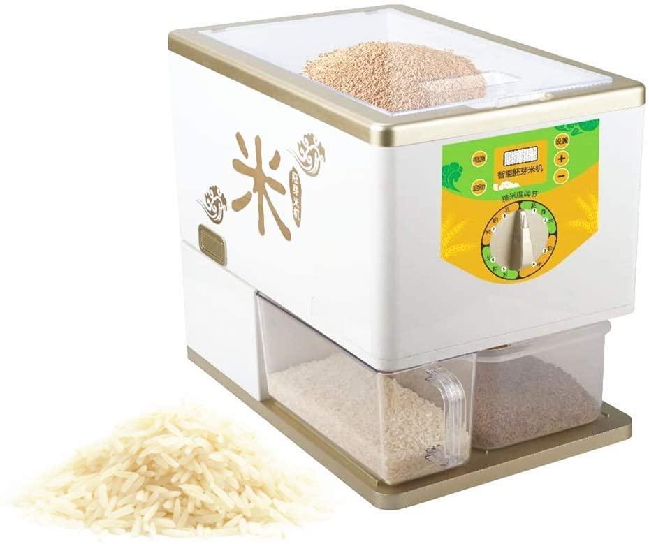 KUNHEWUHUA Household Paddy Rice Husking Machine Electric Paddy Rice Huller Rice Peeling Machine Intelligent Brown Rice Sheller Milling Machine Automatic Rice Dehuller 100-120V