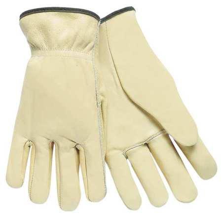 Driver Gloves, Cow Grain Lthr, Cream, M, PR