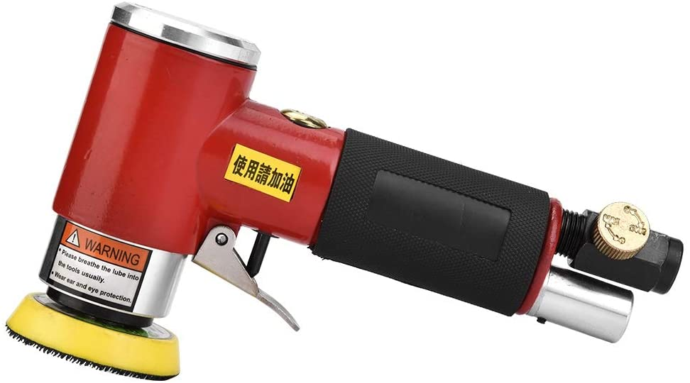 Pneumatic Grinder, Eccentric Air Angle Grinder Pneumatic Polishing Tool with 2in/3in Sanding Pad polisher pneumatic Pneumatic Grinding Tool