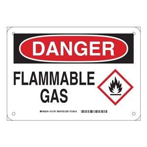 Brady 131797 Plastic Danger Sign, 7