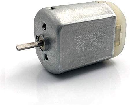 HERCHR 10mm Flat Door Lock Actuator Motor, 12V Car Central Lock Motor FC-280PC-22125