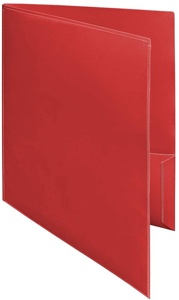 Ultra Pro – 10 Pack, Red 2-Pocket Folder with Clear Outside Pockets