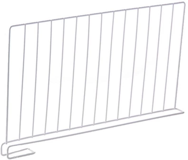 Wire Shelf Dividers Metal for Closet, Cabinet Dividing Organize, White (3, M)