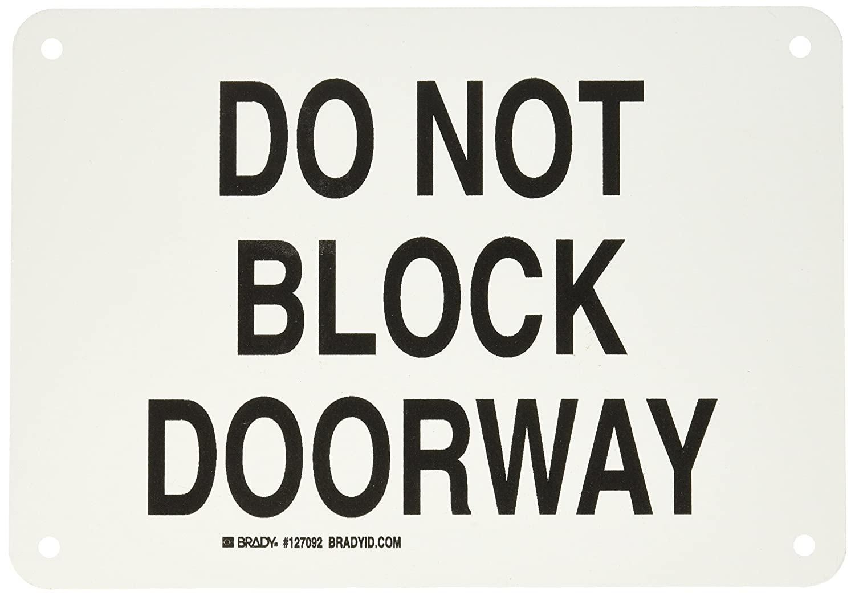 Brady 127092 Door Sign s Sign, Legend