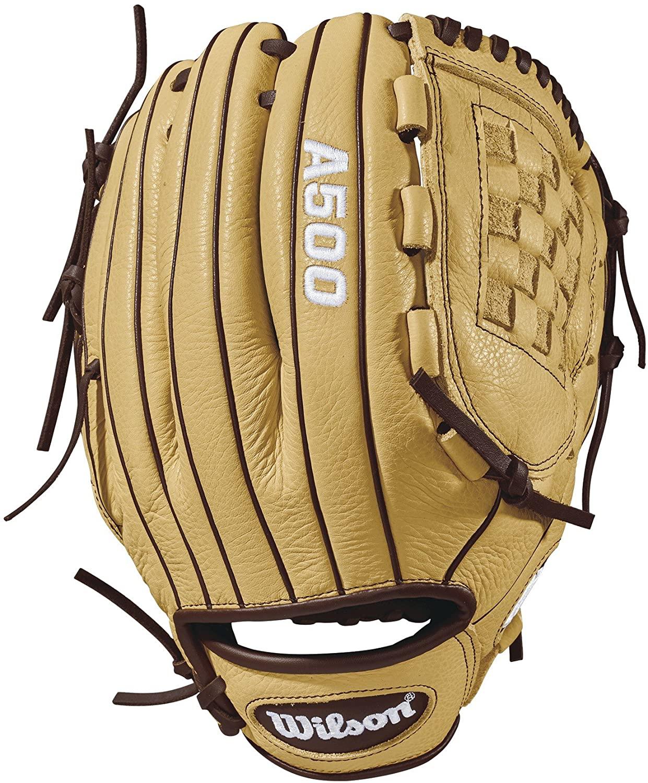 Wilson 2018 A500 Gloves - Left Hand Throw Blonde/Dark Brown, 12