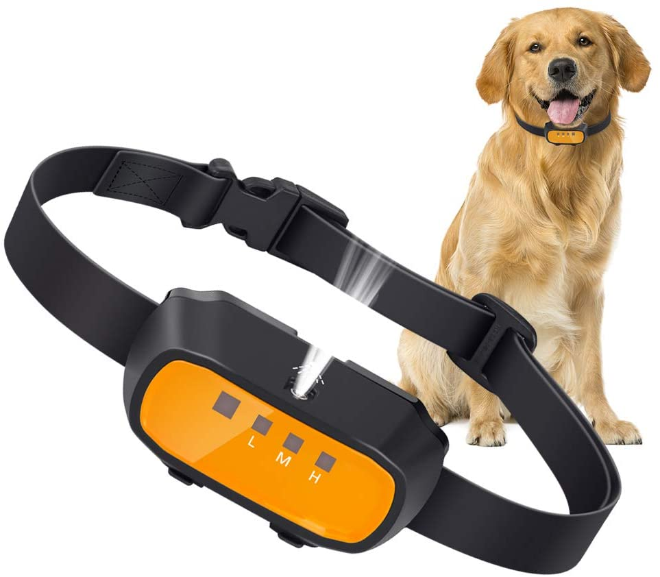 Queenmew Anti Bark Dog Collar, Stop Barking Collar Automatic Citronella Spray Dog Barking Deterrent Device, Rechargeable Bark Stopper Anti-Barking Dog Training Collar for Small Medium Large Dogs
