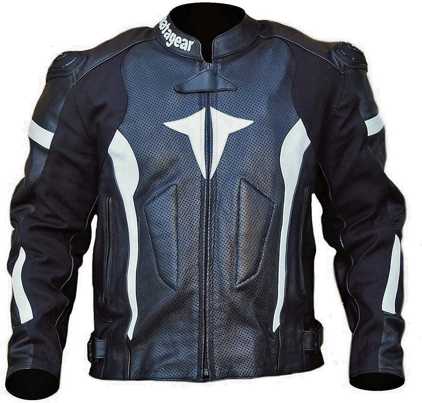 NEW BLACK MOTORCYCLE MATA BULWARK LEATHER JACKET CE APPROVED PROTECTION (SMALL)