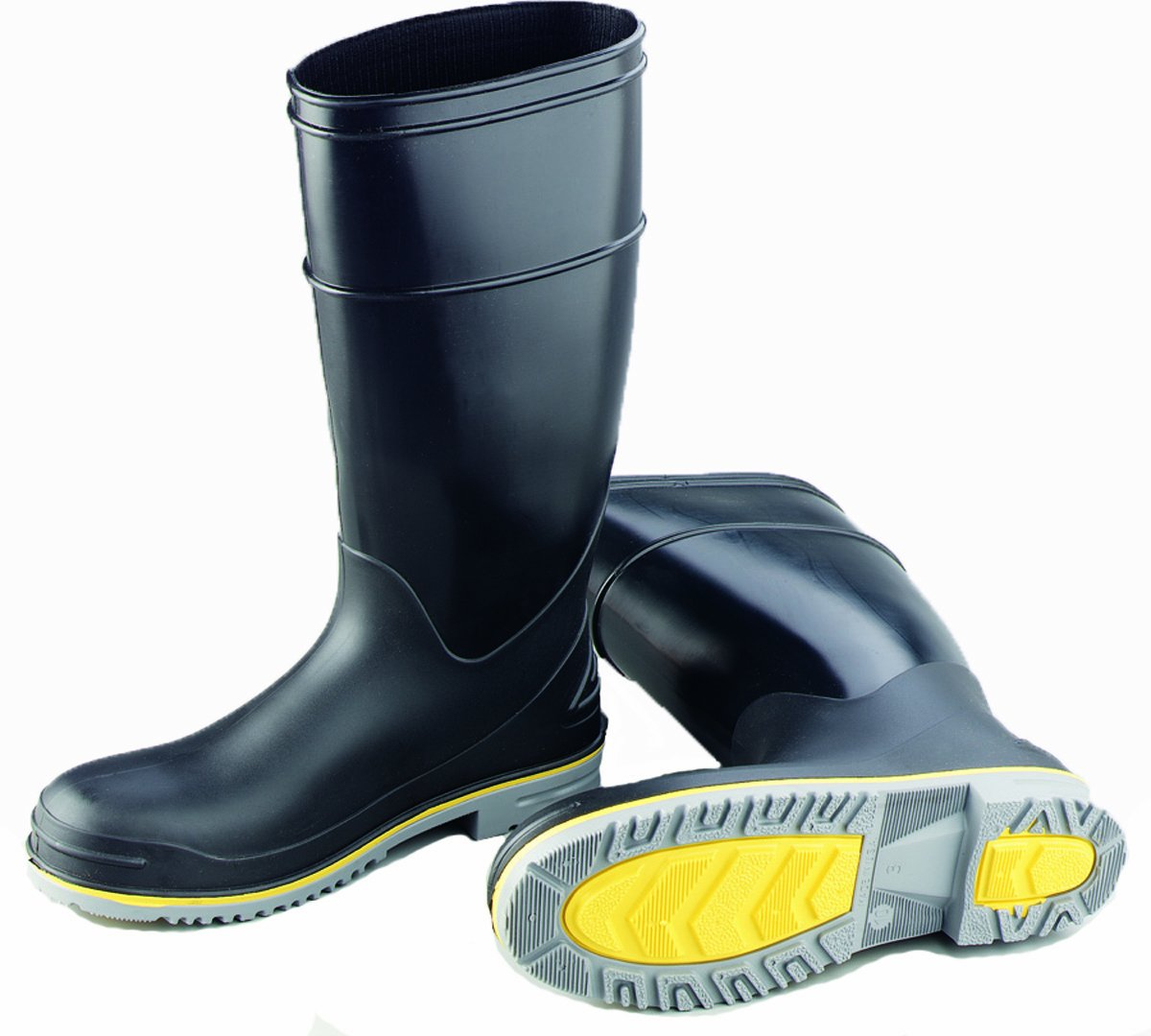 ONGUARD 89908 Polyblend PVC Flex 3 Men's Steel Toe KneeBoots with Power-Lug Outsole, 16