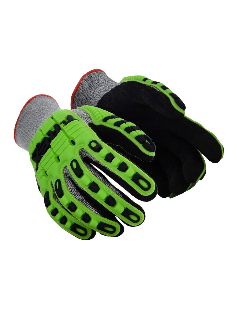 Magid Glove & Safety TRX450XXXL T-REX TRX450 Lightweight Knit Impact Glove – Cut Level A6, Black, 3XL, HPPE