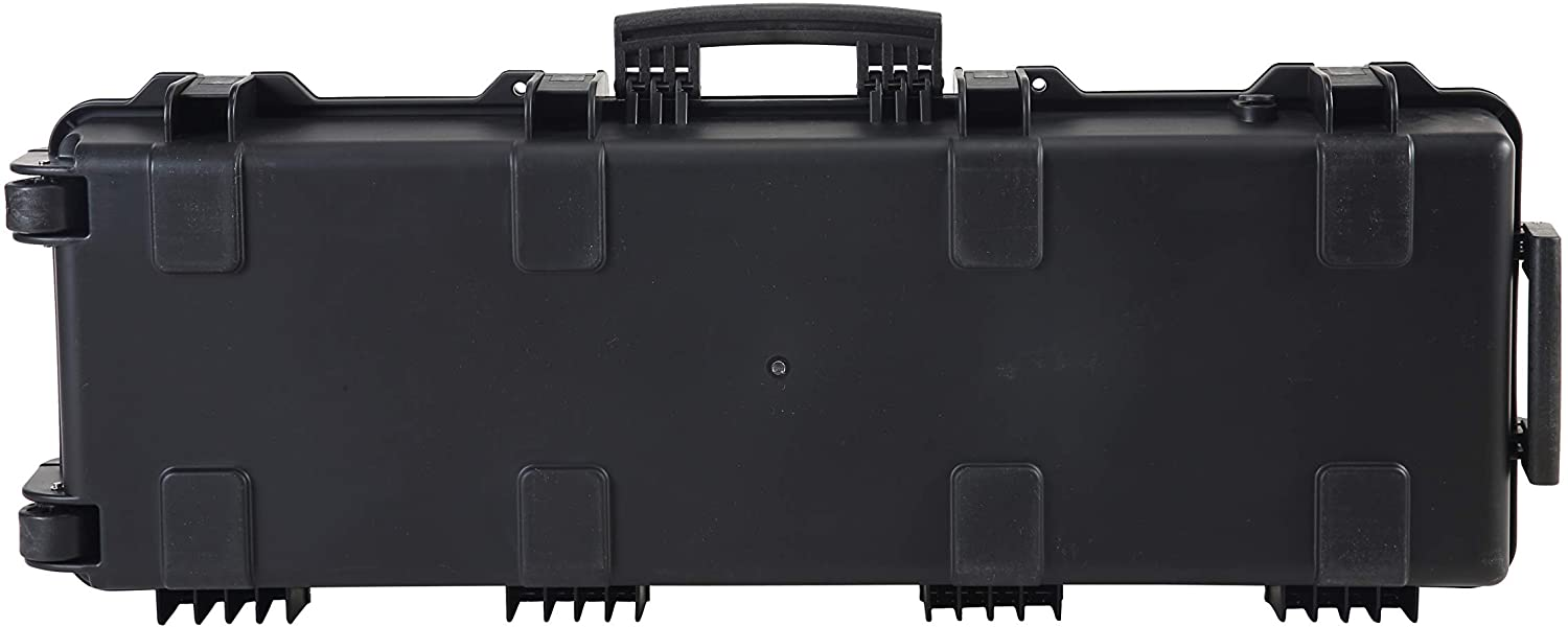 Dshot 43 inch Watertight Airtight Hard Gun Rifle case AR Ultra Protection Case with Two Wheels and Foam Inside