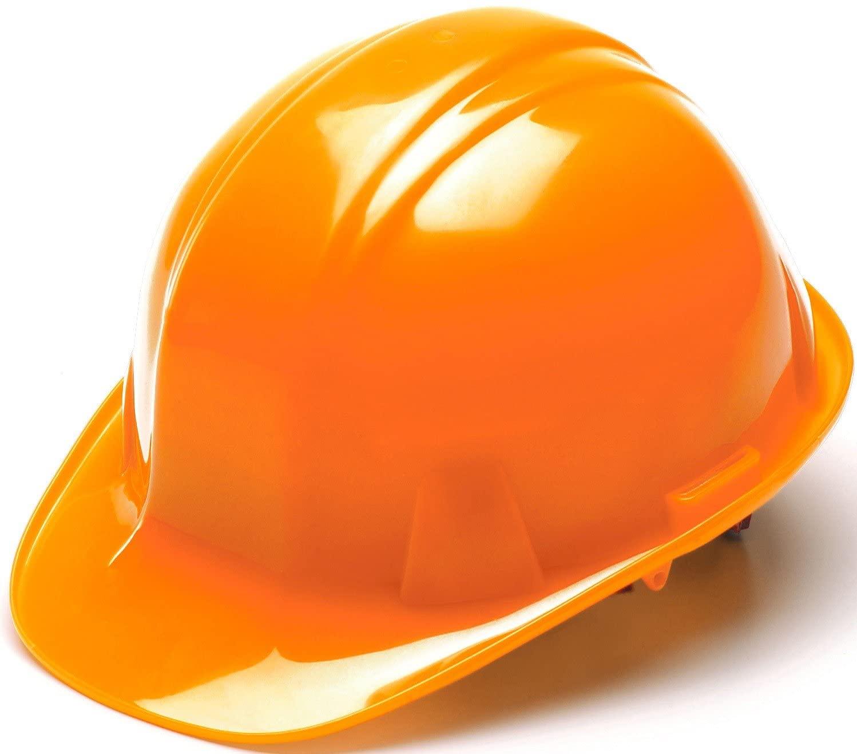 Pyramex Safety Products HP14141 Sl Series 4 Pt. Ratchet Suspension Hard Hat, Hi Vis Orange