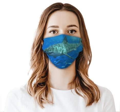 Big Shark Face Shield Mouthcloth Face Scarf Mask Men Women Washable Anti-Dust Unisex