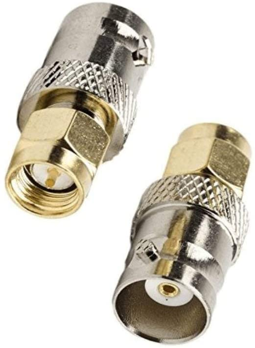 QMseller 2Pack BNC Female to SMA Male RF Coaxial Adapter BNC to SMA Coax Jack Connector