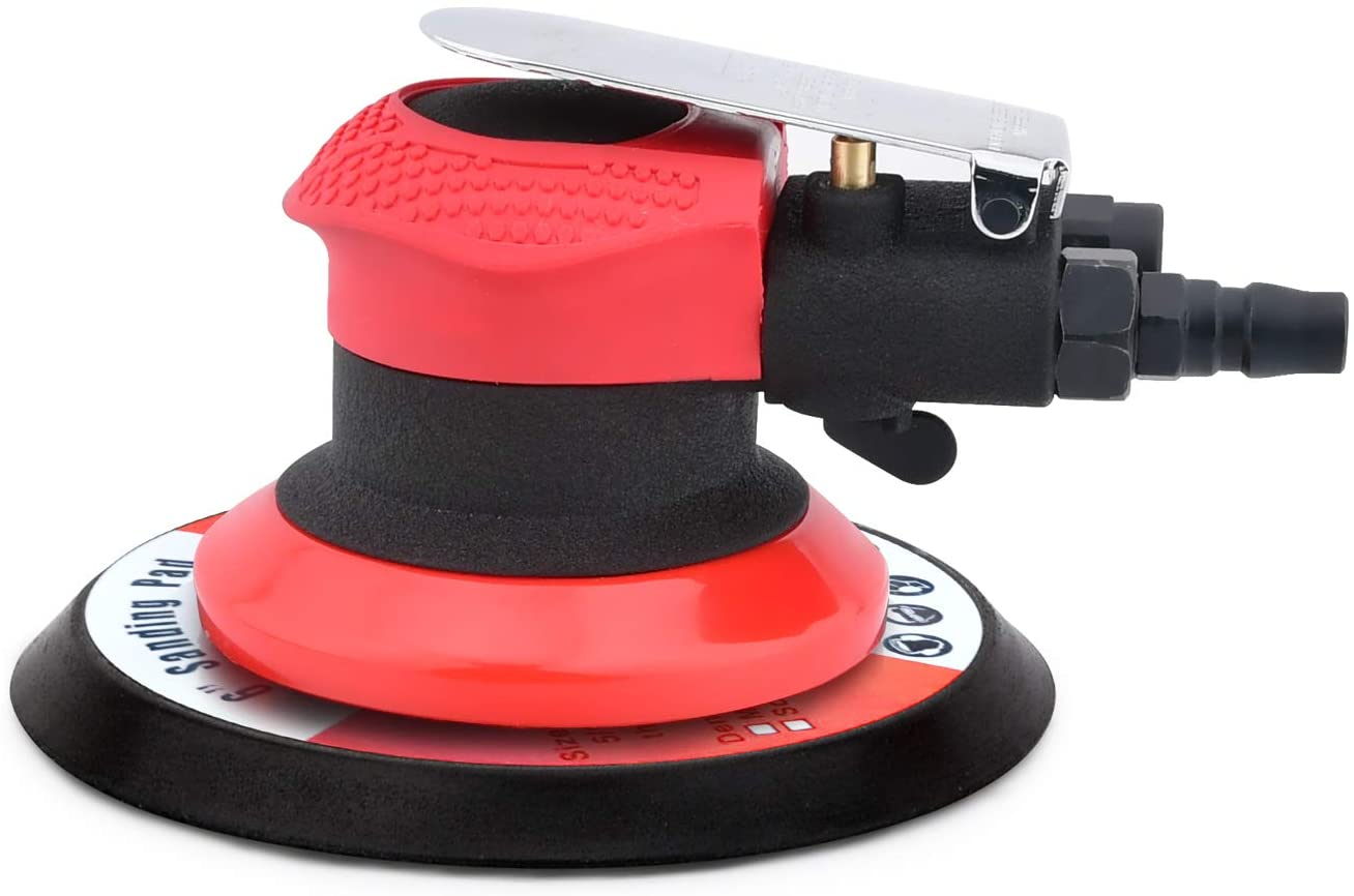 ZHONG AN 6inch Air Finishing Palm Sander, Pneumatic Random Orbital Sander