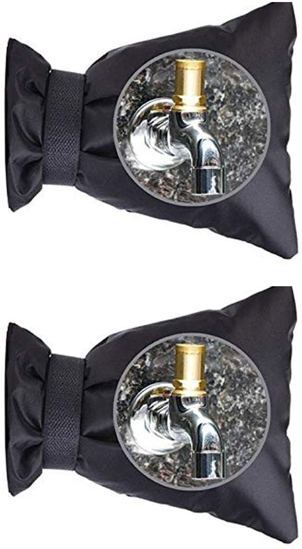 KUOOAN Faucet Covers Outdoor Outside Garden Faucet Cover Socks for Winter Freeze Protection, Plus Size Universal Reusable Waterproof Insulated Spigot Cover, 2 Packs