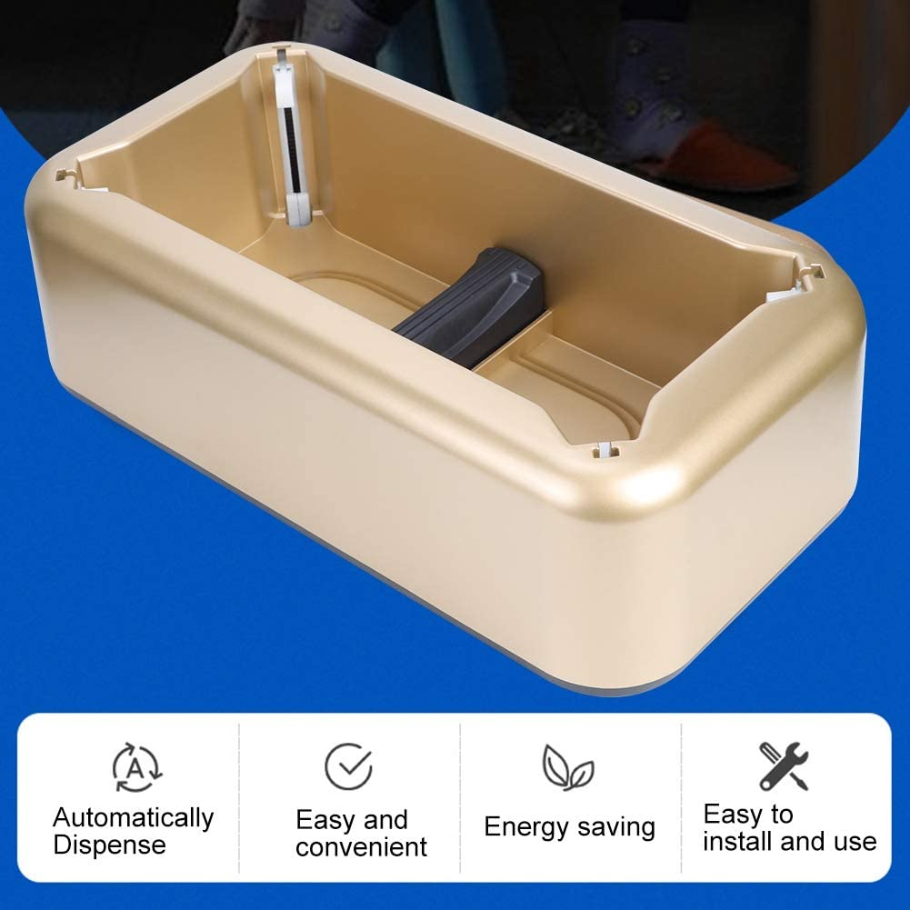 Portable Gold Plastic Household Supplies, Shoes Cover Dispenser, Shop for Home Classroom Office