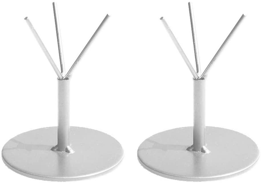 ChezMax Air Plant Stand Grass Hanging Tillandsia Holder Decor for House Succulent Plants Display Racks(2pcs Silver Medium)