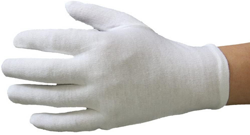 Ewanda store 15 Pairs White Soft Cotton Gloves Lightweight Work Gloves,Film,Coins,CD/DVD,Handling Gloves