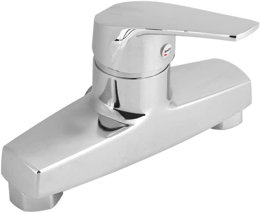 Bathtub Faucet - MAGT Zinc Alloy Bathroom Bathtub Single Handle Faucet Fashion Wall Mounted Bath Shower Valve Mixer Tap