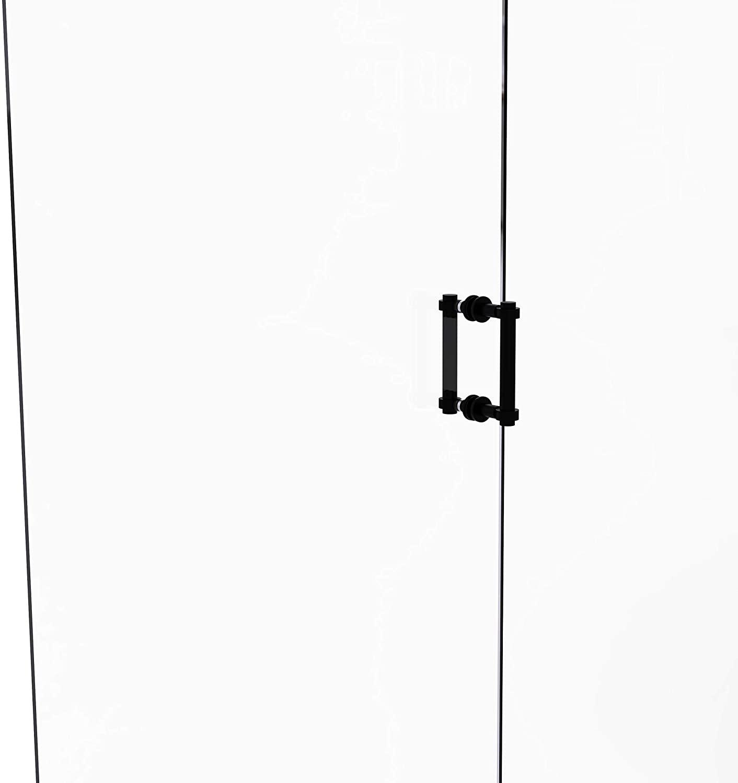 Allied Brass 404-6BB Contemporary 6 Inch Back Shower Door Pull, Matte Black